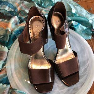 BCBG Brown Patent Heels
